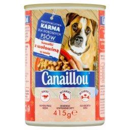 Pełnoporcjowa karma dla dorosłych psów kawałki z wołowiną w sosie
