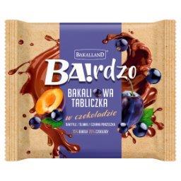 Ba!rdzo Bakaliowa tabliczka w czekoladzie daktyle śliwki czarna porzeczka