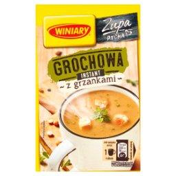 Zupa instant grochowa z grzankami