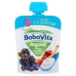 JogoMi! Owoce z jogurtem owoce jagodowe z bananem po...