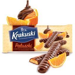 Paluszki z galaretką pomarańczową w czekoladzie
