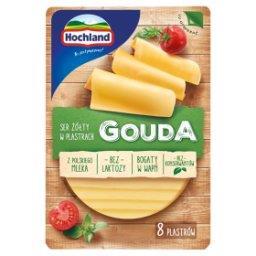 Ser żółty w plastrach Gouda  (8 sztuk)