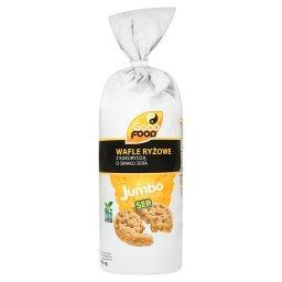 Jumbo Wafle ryżowe z kukurydzą o smaku sera  (12 sztuk)