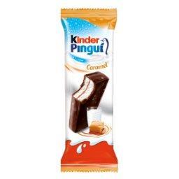 Pingui Caramel Biszkopt z mlecznym nadzieniem i karmelem pokryty czekoladą gorzką