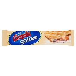 Gofree Wafel przekładany kremem o smaku waniliowo-czekoladowym z orzechami laskowymi