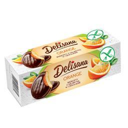 Bezglutenowe biszkopty z galaretką pomarańczową w czekoladzie 150g