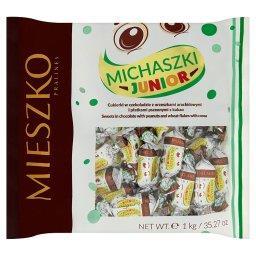 Michaszki Junior Cukierki w czekoladzie z orzeszkami arachidowymi i płatkami kakaowymi