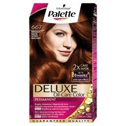 Deluxe Oil-Care Color Farba do włosów Miedziany mahoń 667