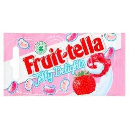 Jelly Delights Żelki o smaku malinowym i truskawkowym w polewie o smaku jogurtowym