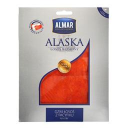 Alaska łosoś dziki wędzony  na zimno plastry 75 g