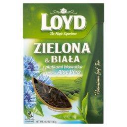 Herbata zielona i biała z płatkami bławatka o smaku Aloe Vera