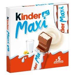 Maxi Batoniki z mlecznej czekolady z nadzieniem mlec...