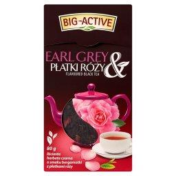 Earl Grey & Płatki Róży Liściasta herbata czarna o smaku bergamotki z płatkami róży