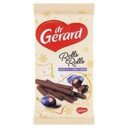 Rolls Rolls Rurka waflowa kakaowa z kremem o smaku śliwki w czekoladzie