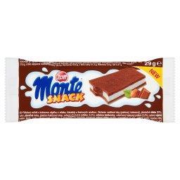 Monte Snack Biszkopt z kremem mlecznym i czekoladowo-orzechowym