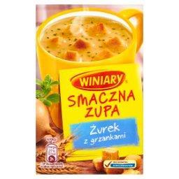 Smaczna zupa Żurek z grzankami