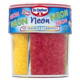 Neon Mix dekoracji cukrowych