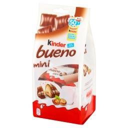 Bueno Mini Wafel w mlecznej czekoladzie wypełniony mleczno-orzechowym nadzieniem