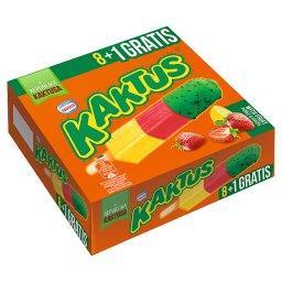 Lody wodne o smaku cytrynowym i sorbet truskawkowy  (9 sztuk)