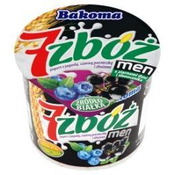 7 zbóż men Jogurt z jagodą czarną porzeczką i zbożami