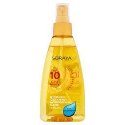 Sun & Beauty Kokosowo-orzechowy wodoodporny olejek do opalania SPF 10