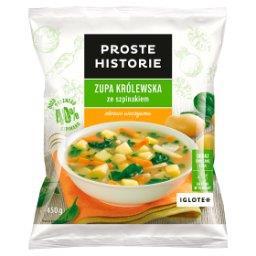 Zupa królewska ze szpinakiem