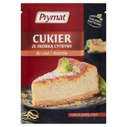 Cukier ze skórką cytryny do ciast i deserów
