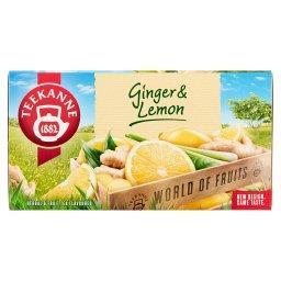 World of Fruits Ginger & Lemon Mieszanka herbatek ziołowych i owocowych 35 g