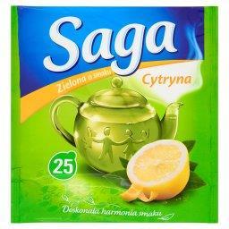 Herbata zielona o smaku cytryna  (25 torebek)