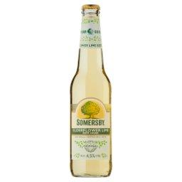 Napój piwny o smaku kwiatu bzu i limonki