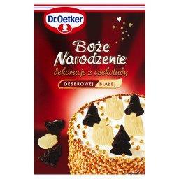 Boże Narodzenie Dekoracje z czekolady deserowej i białej  (18 sztuk)