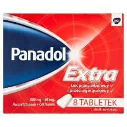 Extra 500 mg + 65 mg Lek przeciwbólowy i przeciwgorączkowy 8 tabletek