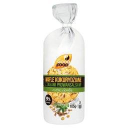 Extra cienkie wafle kukurydziane z ziołami prowansalskimi  (21 sztuk)