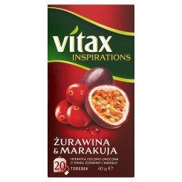 Inspirations Żurawina & Marakuja Herbatka ziołowo-owocowa 40 g (20 torebek)