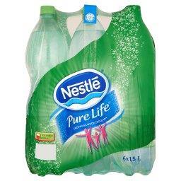 Pure Life Gazowana woda źródlana 6 x 1,5 l