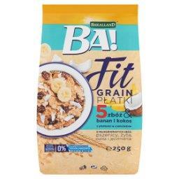 Ba! Fit Grain Płatki 5 zbóż & banan i kokos z płatkami w czekoladzie