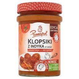Klopsiki z indyka w sosie pomidorowym z warzywami