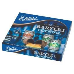 Cocktail Baryłki z alkoholem w czekoladzie deserowej