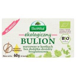 Ekologiczny bulion warzywny w kostkach bez dodatku drożdży  (6 sztuk)