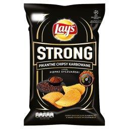 Strong Pikantne chipsy karbowane o smaku pieprz syczuański