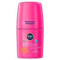 Sun Kids Kolorowy balsam roll-on do opalania SPF 50+ różowy