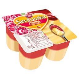 Serduszko Pyszny Pudding o smaku waniliowym z sosem o smaku malinowym 500 g (4 sztuki)