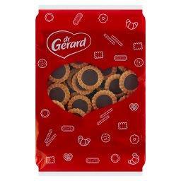 Kruche ciasteczka wypełnione czekoladowym kremem
