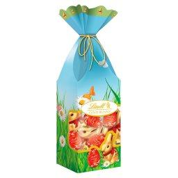 Gold Bunny Zajączki i jajeczka z mlecznej czekolady z nadzieniem