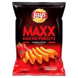 Maxx Mocno Pogięte Czerwona papryka Chipsy ziemniaczane