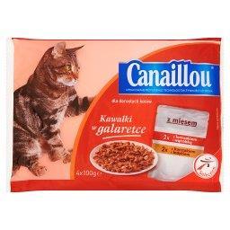 Kawałki w galaretce Pełnoporcjowa karma dla dorosłych kotów z mięsem