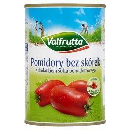 Pomidory bez skórek z dodatkiem soku pomidorowego