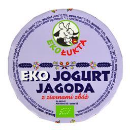 Jogurt jagoda z ziarnami zbóż Eko 200g