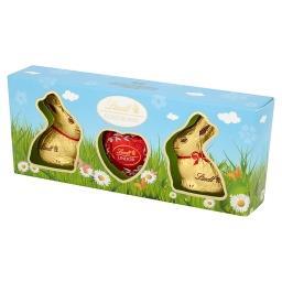 Gold Bunny Zajączki i serce z mlecznej czekolady z nadzieniem