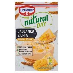 My natural day Jaglanka z chia mango-ananas